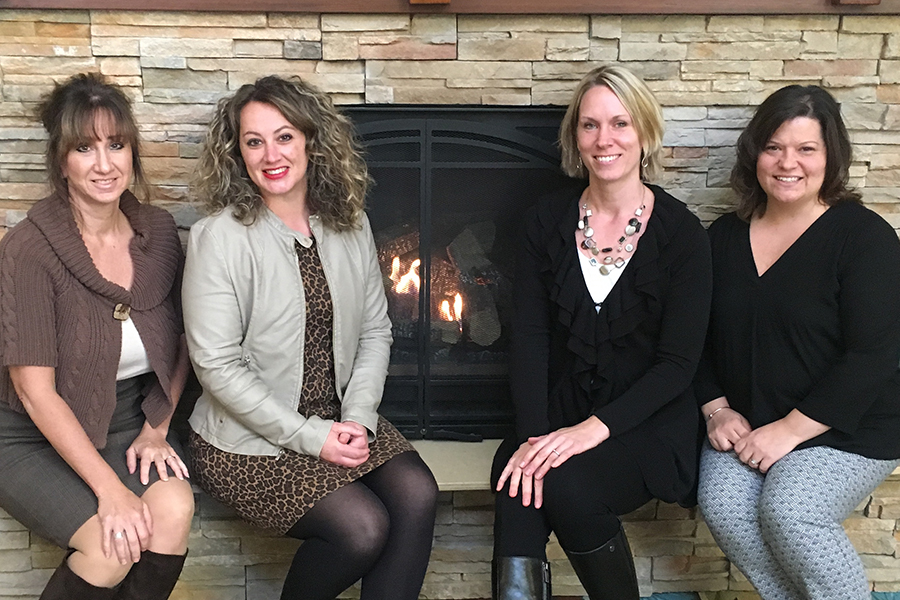 From left, Woodland Pond leaders: Christi Battistoni, director of finance; Michelle Gramoglia, president and CEO; Sarah Hull, resident service director; and Brigitte Blum, director of human resources